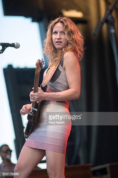 Blues musician Ana Popovic performs at Ribfest, Vernon Hills, Illinois, August 23, 2013.