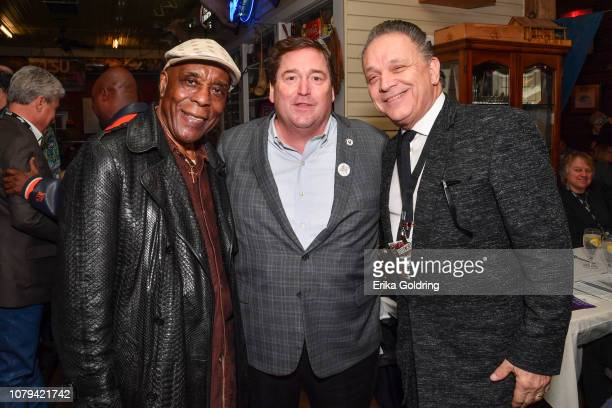 Blues musician Buddy Guy Louisiana Lieutenant Governor Billy Nungesser and blues musician Jimmie Vaughan attend a Mississippi Blues Trail luncheon at...