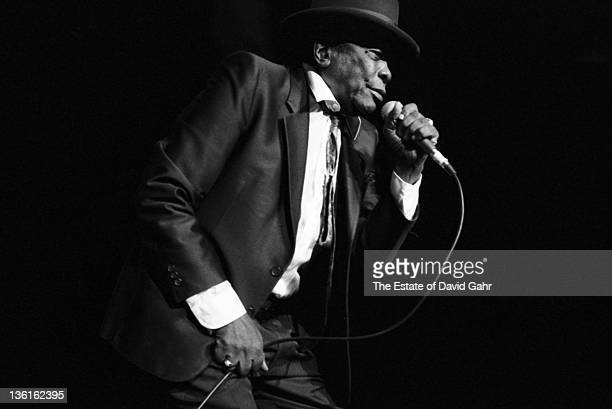 Blues musician John Lee Hooker performs live at Madison Square Garden on October 16 1990 in New York City New York
