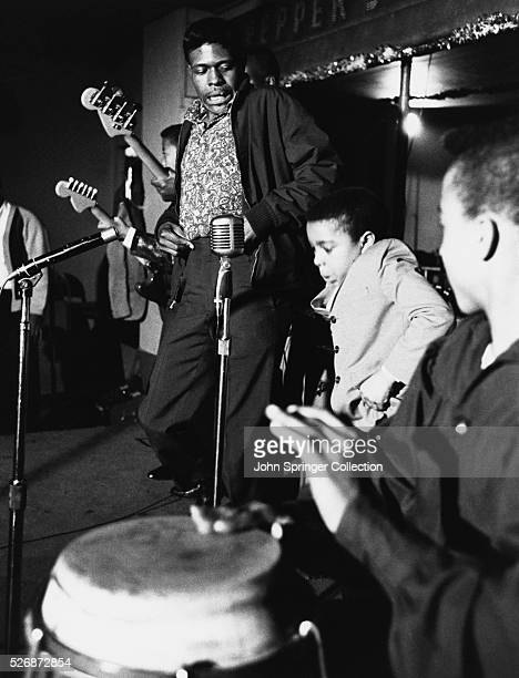 Blues musician Junior Wells and his band perform on the NBC television program The Sounds and Sights of Chicago