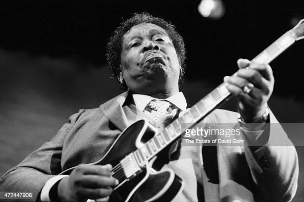 Blues musician singer song writer and guitarist performs at The Ritz rock club on March 12 1987 in New York City New York