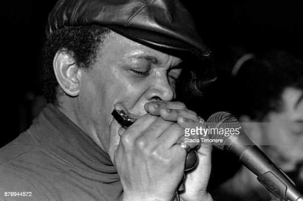 Blues musician Sugar Blue performs onstage at Rosa's Lounge in Chicago Illinois United States on February 19 1992