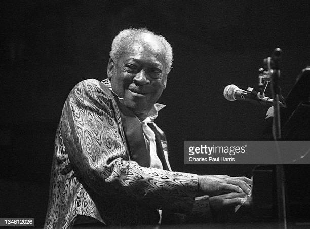 Blues pianist and singer Henry Gray performs live at the Blues Estafette, on November 23, 1991in Utrecht, Holland.