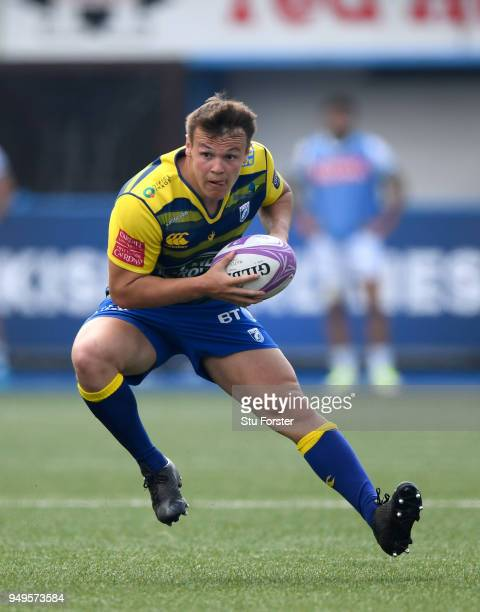 Blues player Jarrod Evans in action during the European Challenge Cup SemiFinal match between Cardiff Blues and Section Paloise at Cardiff Arms Park...