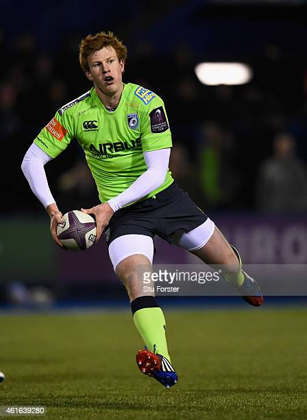 Blues player Rhys Patchell in action during the European Rugby Challenge Cup match between Cardiff Blues and Rugby Rovigo at Cardiff Arms Park on...