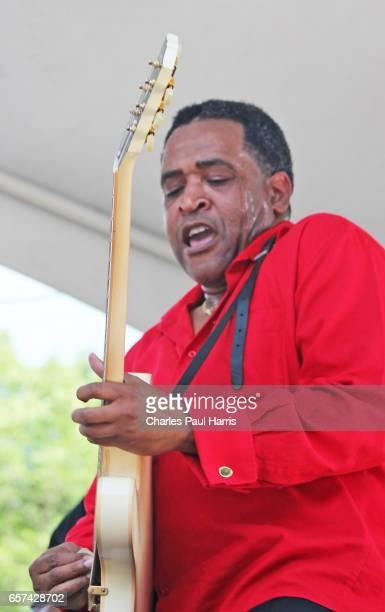 Blues / r&b singer and guitarist Eddie Cotton performs at the Chicago Blues Festival. JUNE 11, 2016 in Chicago, Illinois.