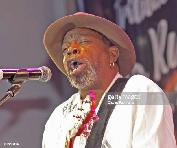 Blues / r&b singer and guitarist Lurrie Bell performs at the Chicago Blues Festival. JUNE 12, 2016 in Chicago, Illinois.