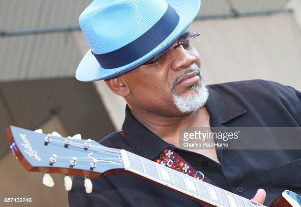 Blues / r&b singer and guitarist Toronzo Cannon performs at the Chicago Blues Festival. JUNE 10, 2016 in Chicago, Illinois.