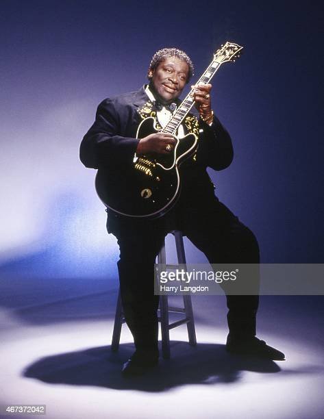 Blues singer and guitarist BB King poses for a portrait session on April 4 2002 in Los Angeles California