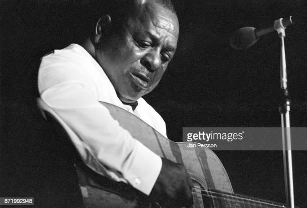Blues singer and guitarist Big Joe Williams performing at Tivoli Gardens Concert hall Copenhagen Denmark 1968