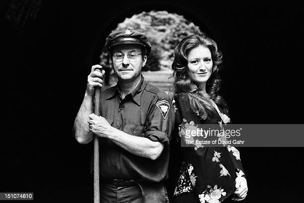 Blues singer and guitarist Bonnie Raitt poses for a portrait with a friend on July 22 1974 in New York City New York