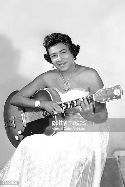 Blues singer and guitarist Memphis Minnie poses for a portrait circa 1950 in Memphis Tennessee