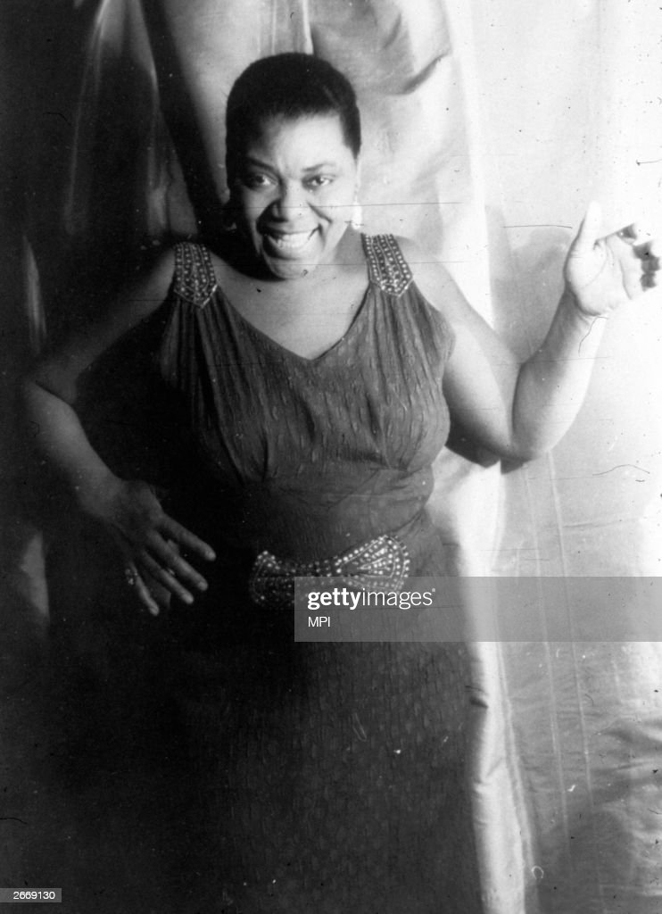 Blues singer Bessie Smith (1898 - 1937).