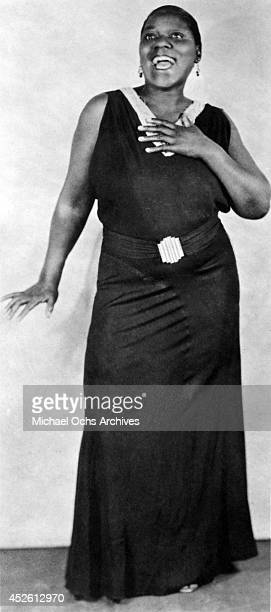 Blues singer Bessie Smith poses for a portrait circa 1928