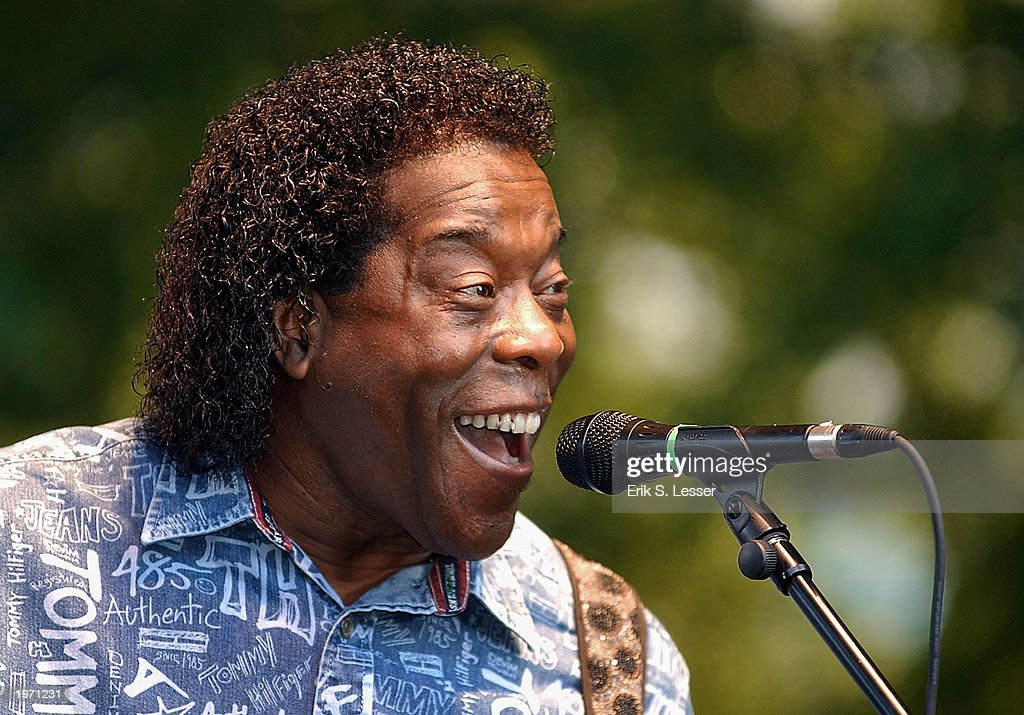 Blues singer Buddy Guy performs during the10th Annual Music Midtown Festival May 3, 2003 in Atlanta, Georgia. The three-day music festival features a variety of national acts.