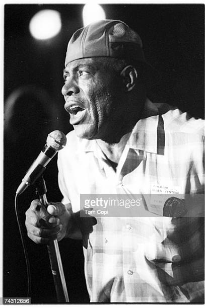 Blues singer Howlin Wolf performs onstage in 1969 in Ann Arbor, Michigan.