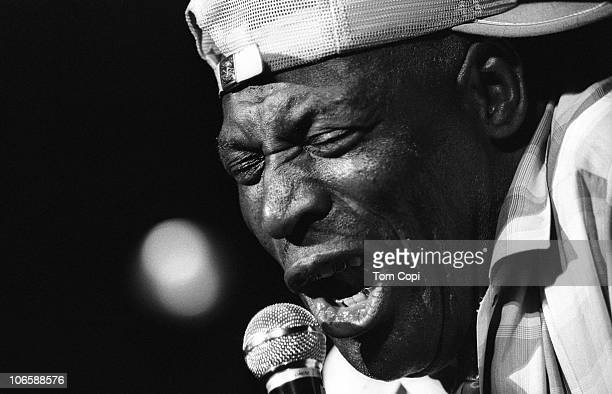 Blues singer Howlin' Wolf performs onstage in Ann Arbor, Michigan in 1969.