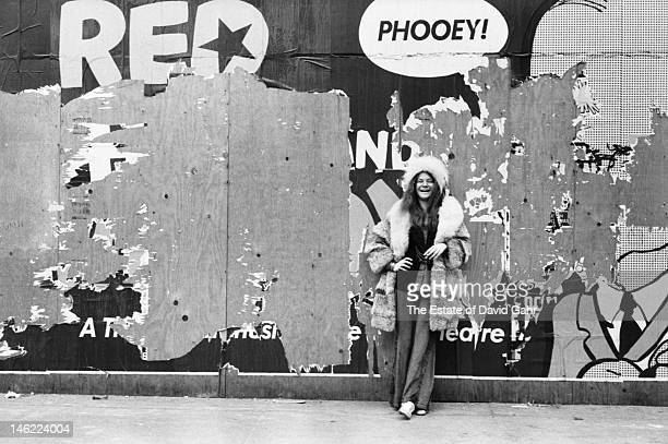 Blues singer Janis Joplin poses for a portrait on March 3 1969 near the Chelsea Hotel in New York City New York