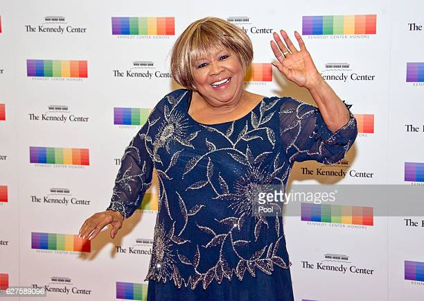 Blues singer Mavis Staples arrives for the formal Artist's Dinner honoring the recipients of the 39th Annual Kennedy Center Honors hosted by United...