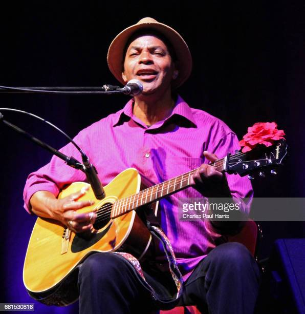 Blues songwriter, singer and guitarist Guy Davis performs on AUGUST 18, 2016 at Connaught Studio, Worthing, West Sussex, England.