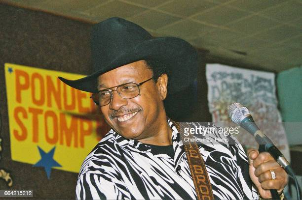 Blues songwriter, singer and guitarist Lonnie Brooks performs at the Ponderosa Stomp. APRIL 26, 2005 at New Orleans, Louisiana.