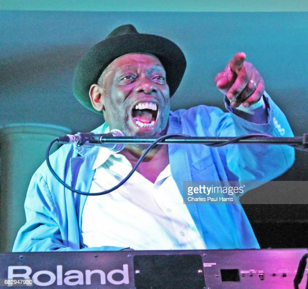 Blues songwriter, singer, keyboard player and guitarist Lucky Peterson performs on JULY 27, 2016 at the Southern Pavilion, Worthing Pier, Worthing,...