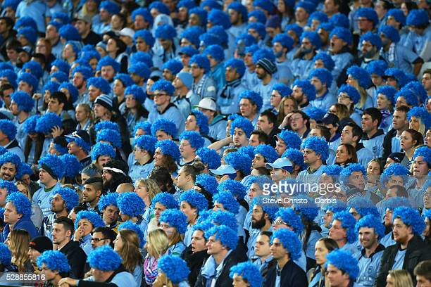 Blue's supporters before the match against the Maroons at Sydney Olympic Park. Sydney, Australia. Wednesday, 27th May 2015