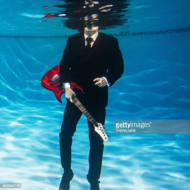 Blues underwater guitarist