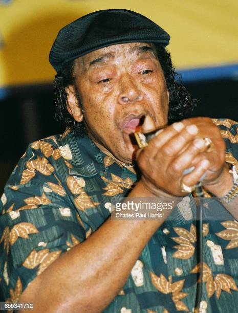 Blues vocalist and harmonica player James Cotton performs at the New Orleans Jazz Fest, APRIL 24, 2005 in New Orleans, Louisiana.