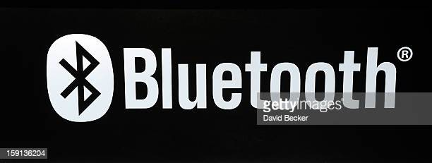 Bluetooth logo is seen at the 2013 International CES at the Las Vegas Convention Center on January 8 2013 in Las Vegas Nevada CES the world's largest...
