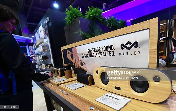 Bluetooth portable speakers from House of Marley made of FSCcertified wood derived from sources practising environmentally responsible forestry are...
