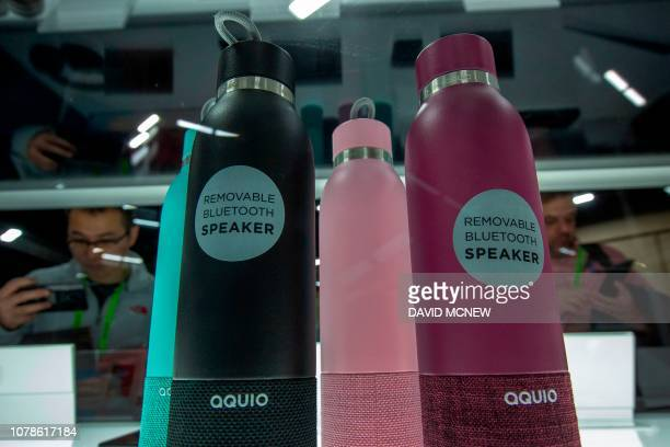 Bluetooth water speakers are among the CES 2010 Innovation awards winners displayed during the CES Unveiled Las Vegas event in advance of CES in Las...