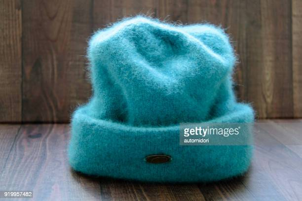 A Bluish-Green Beanie Made of Wool