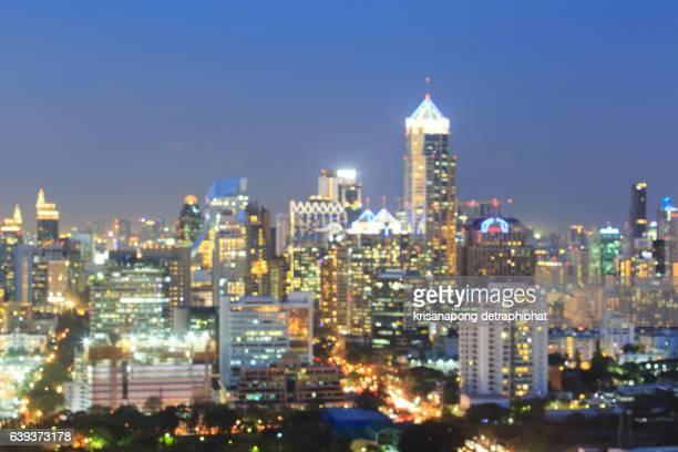 Blur cityscapes.