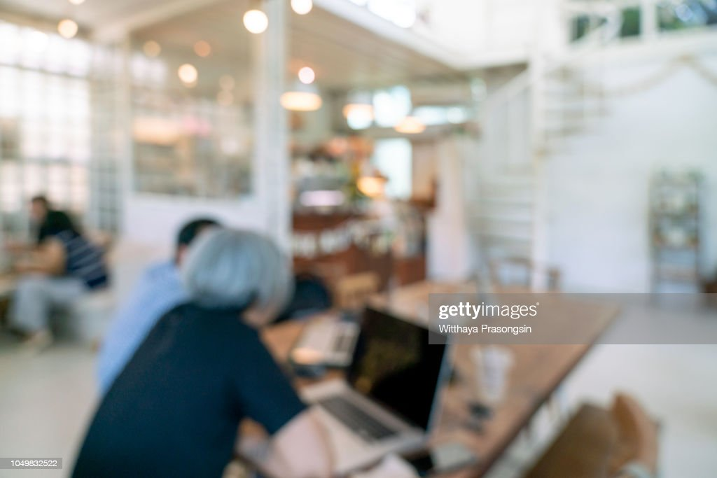 Blur Coffee Shop Or Cafe Restaurant With Abstract Bokeh Light Image Background High Res Stock Photo Getty Images