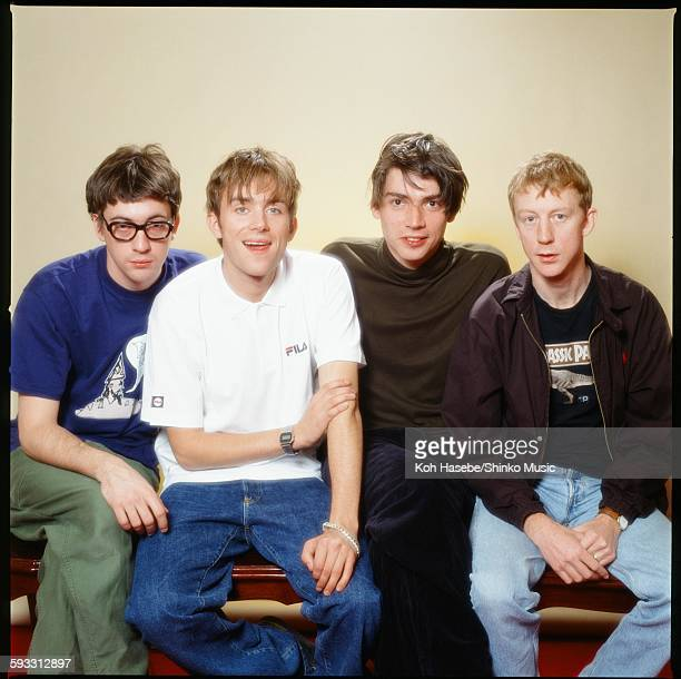 Blur group shot at a hotel in Sendai Sendai November 1995