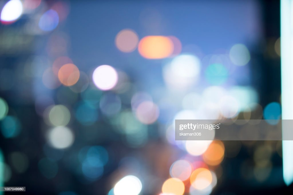 Blurred background of nightscape and bokeh background : Stock Photo