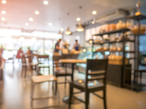 Blurred background, people in coffee shop 917101962