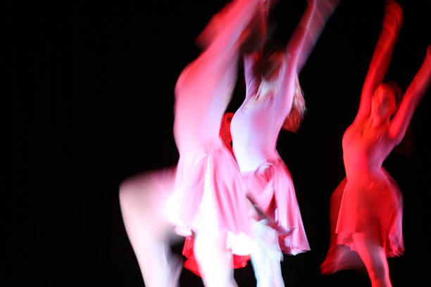 Blurred ballerinas