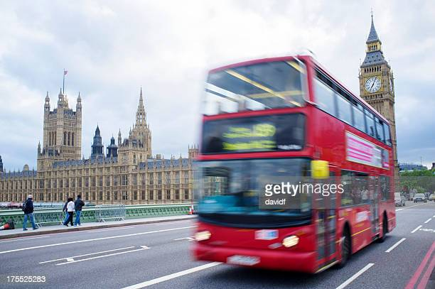 Blurred Bus Passing Big Ben