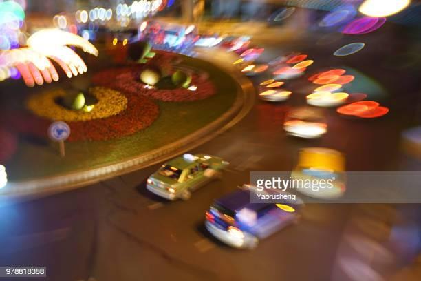blurred city night traffic background