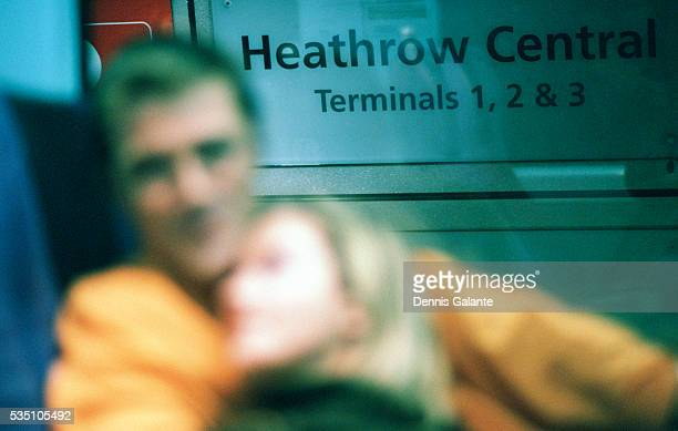 Blurred Couple at Heathrow Airport