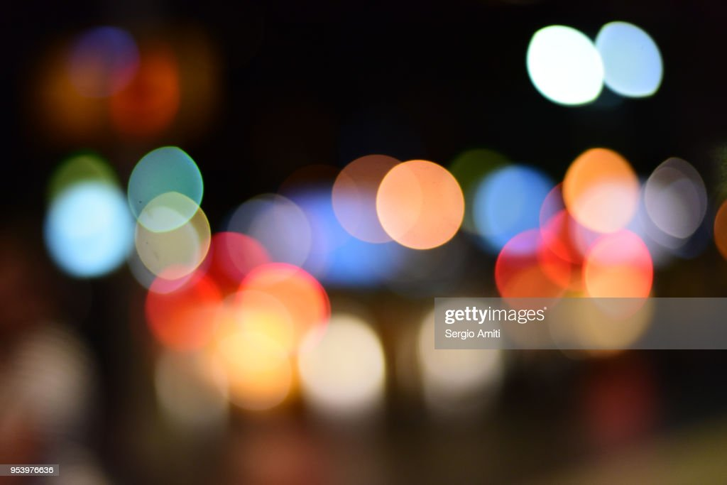 Blurred lights in New York City : Stock Photo