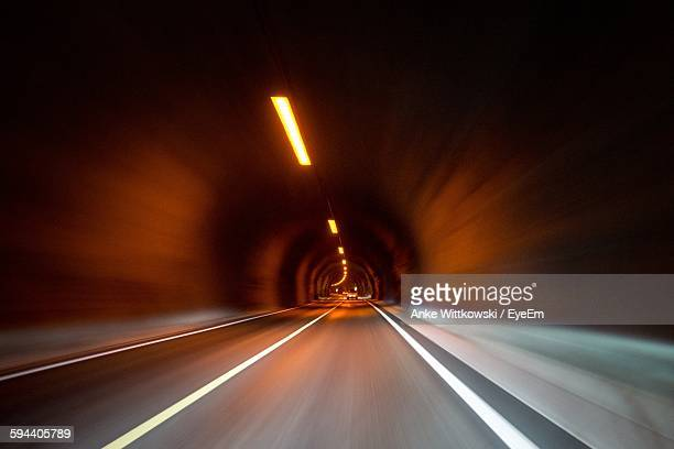 Blurred Motion Image Of Tunnel