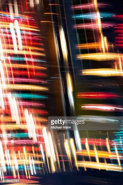 Blurred motion lights of a merry-go-round