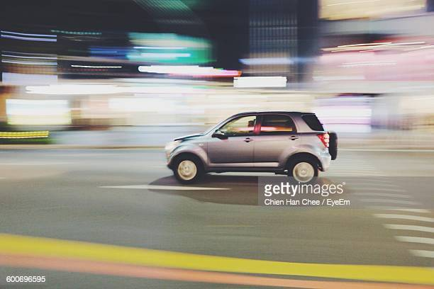 Blurred Motion Of Car On Street