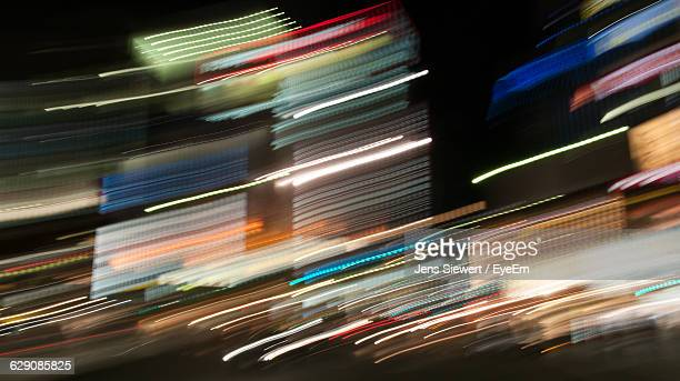 Blurred Motion Of Illuminated Lights