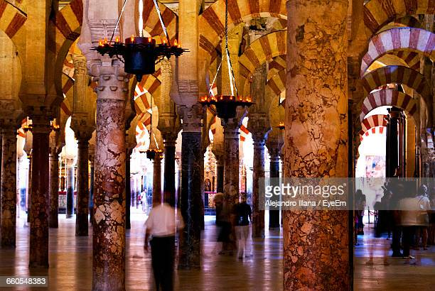 Blurred Motion Of People At Cordoba Mosque