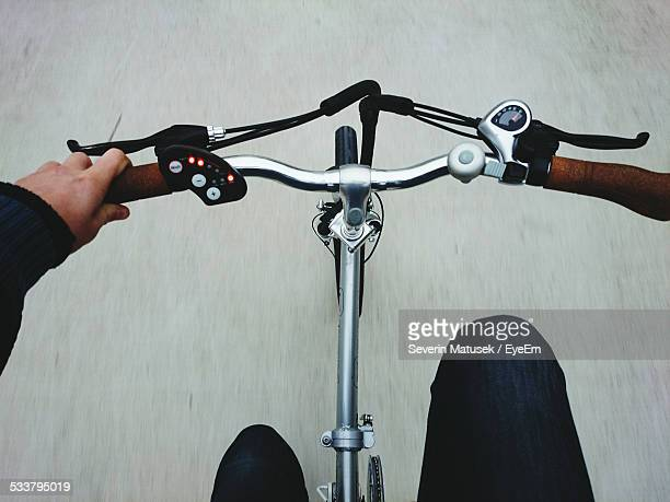 Blurred Motion Of Person Riding Bicycle