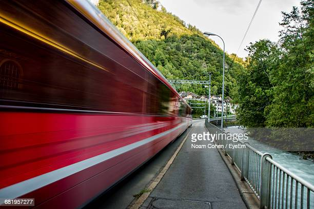 Blurred Motion Of Red Train